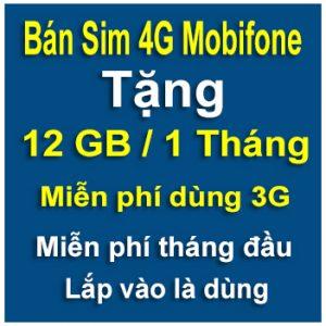 Sim 4g Mobifone 12GB